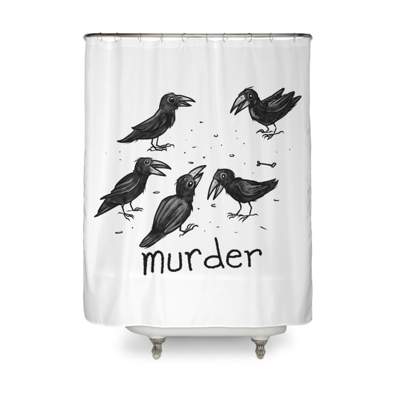 murder of crows Home Shower Curtain by Toadhouse Editions