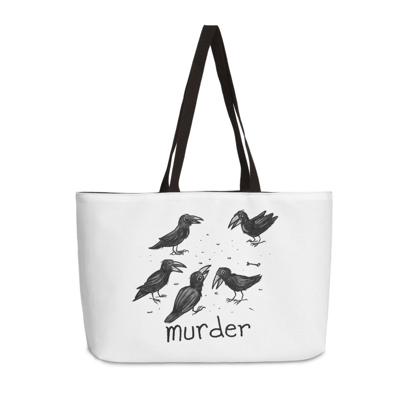 murder of crows Accessories Weekender Bag Bag by Toadhouse Editions