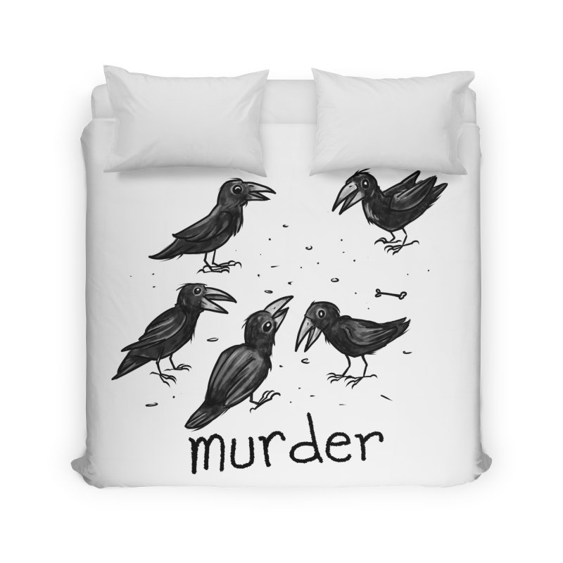 murder of crows Home Duvet by Toadhouse Editions