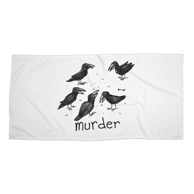 murder of crows Accessories Beach Towel by Toadhouse Editions