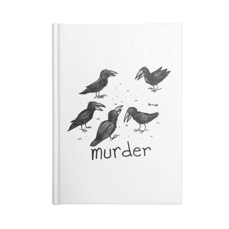 murder of crows Accessories Lined Journal Notebook by Toadhouse Editions