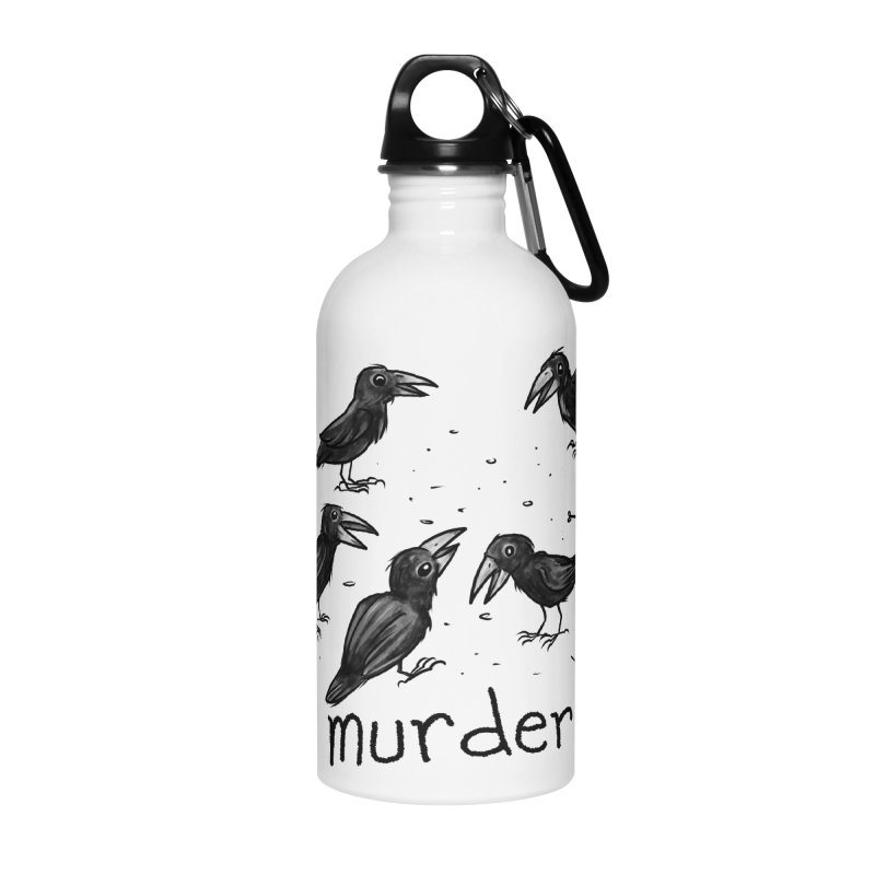 murder of crows Accessories Water Bottle by Toadhouse Editions