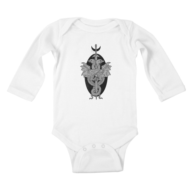The Basilisks Kids Baby Longsleeve Bodysuit by Toadhouse Editions