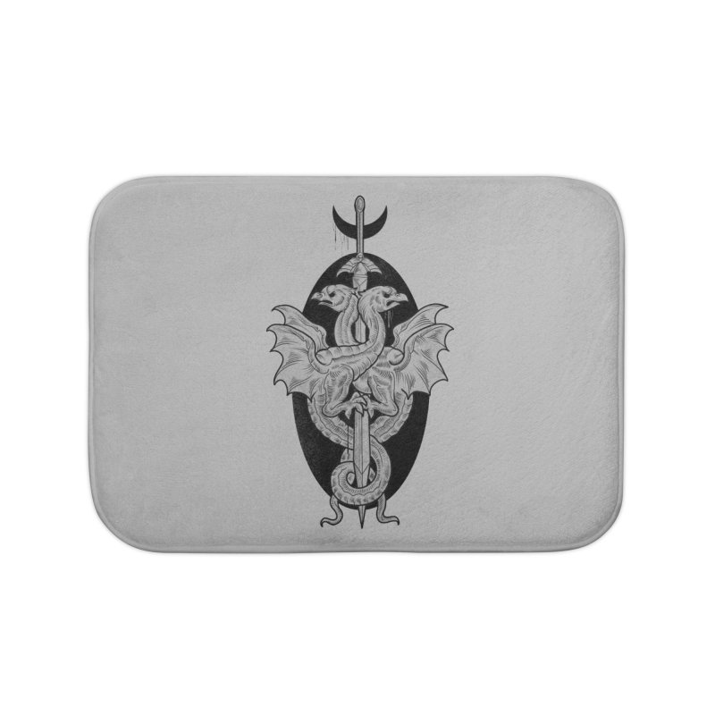The Basilisks Home Bath Mat by Toadhouse Editions