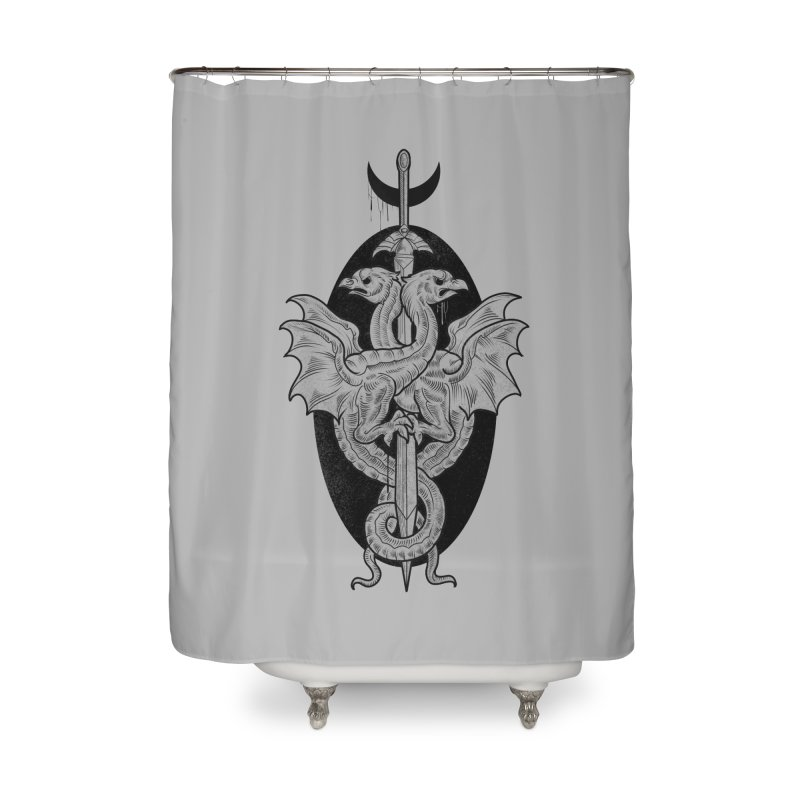 The Basilisks Home Shower Curtain by Toadhouse Editions