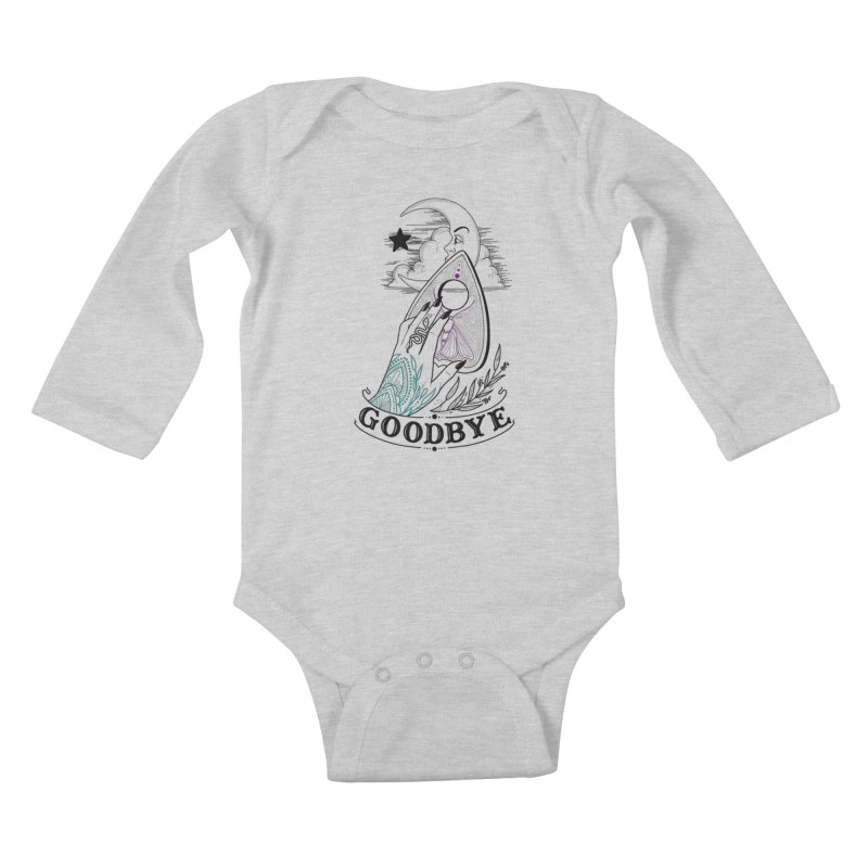 Goodbye! Kids Baby Longsleeve Bodysuit by Toadhouse Editions