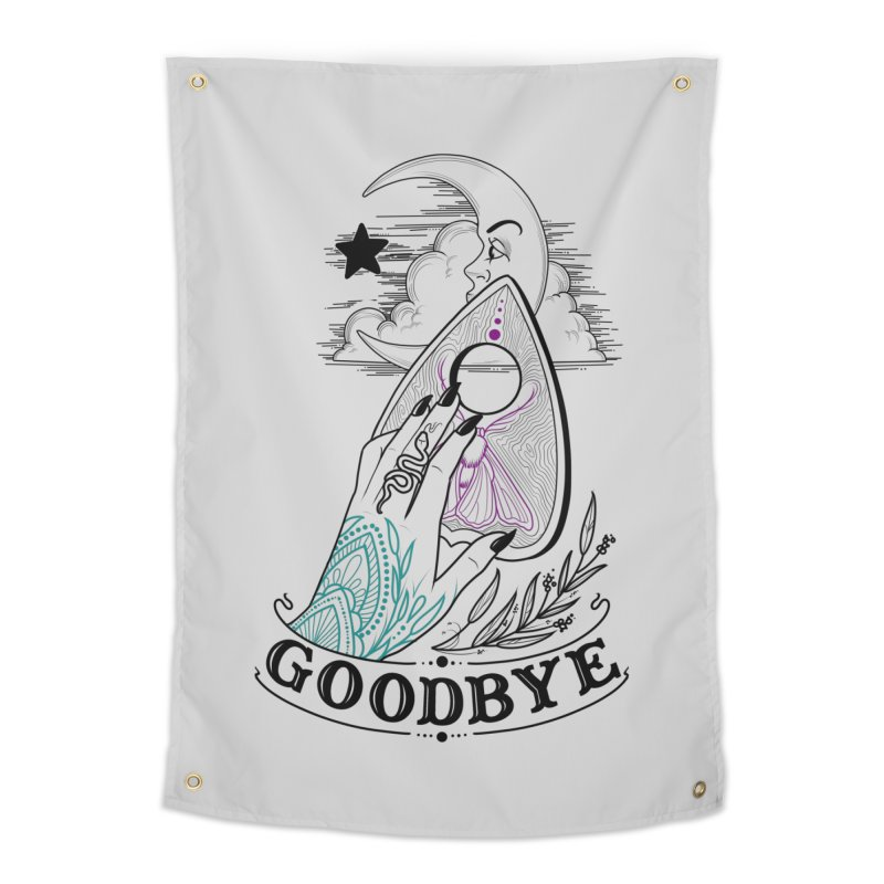 Goodbye! Home Tapestry by Toadhouse Editions