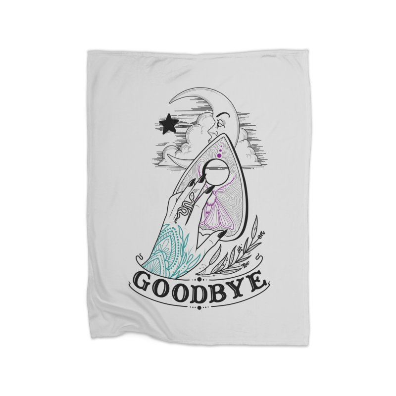 Goodbye! Home Fleece Blanket Blanket by Toadhouse Editions