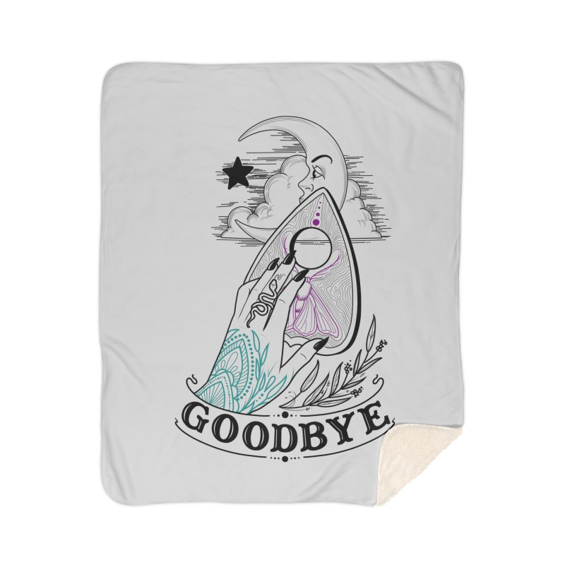 Goodbye! Home Sherpa Blanket Blanket by Toadhouse Editions