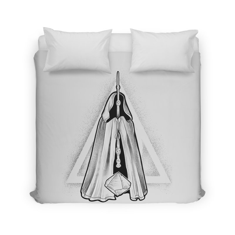 Wand, Cloak, and Stone Home Duvet by Toadhouse Editions