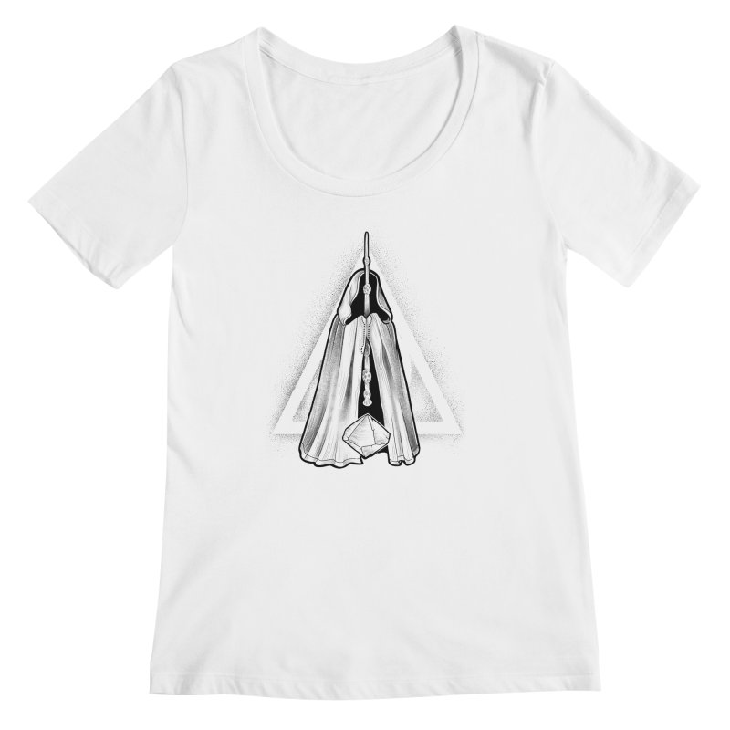 Wand, Cloak, and Stone Women's Regular Scoop Neck by Toadhouse Editions