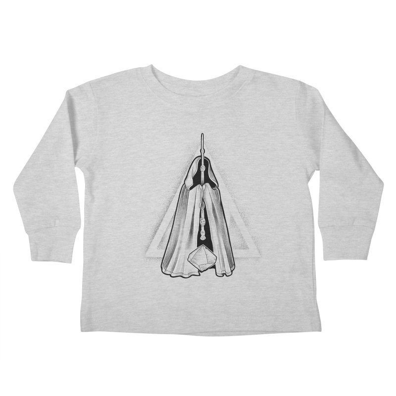 Wand, Cloak, and Stone Kids Toddler Longsleeve T-Shirt by Toadhouse Editions
