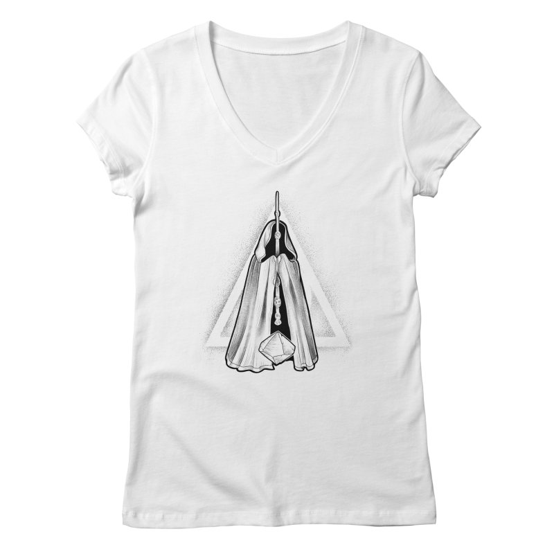 Wand, Cloak, and Stone Women's Regular V-Neck by Toadhouse Editions
