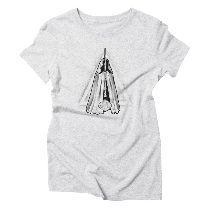 Wand, Cloak, and Stone Women's Triblend T-Shirt by Toadhouse Editions