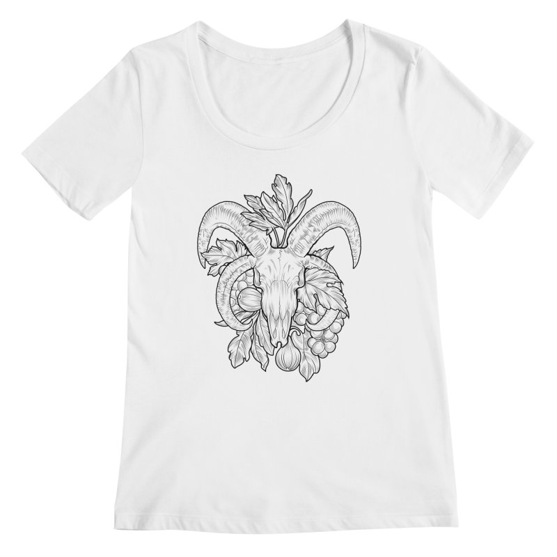 Faunus Women's Regular Scoop Neck by Toadhouse Editions