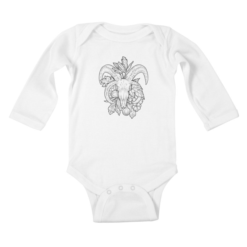 Faunus Kids Baby Longsleeve Bodysuit by Toadhouse Editions