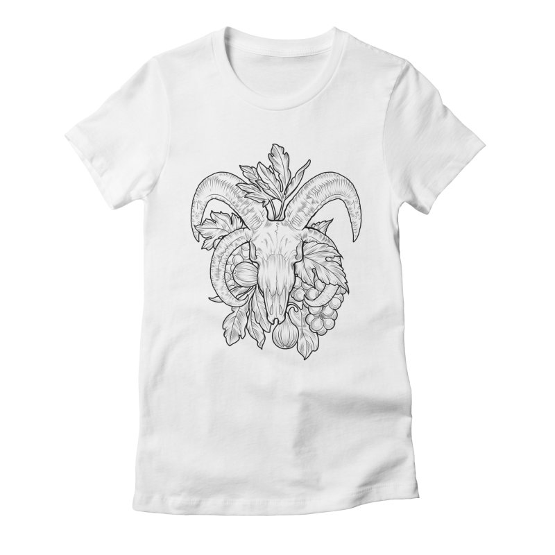 Faunus Women's Fitted T-Shirt by Toadhouse Editions