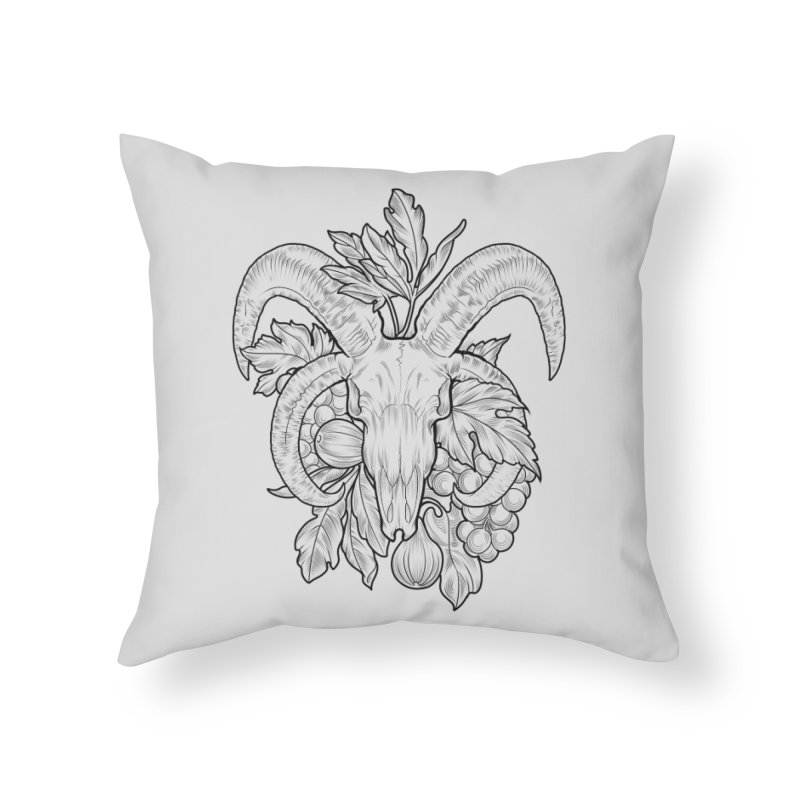 Faunus Home Throw Pillow by Toadhouse Editions