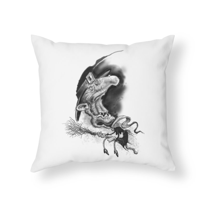 Witch Home Throw Pillow by Toadhouse Editions