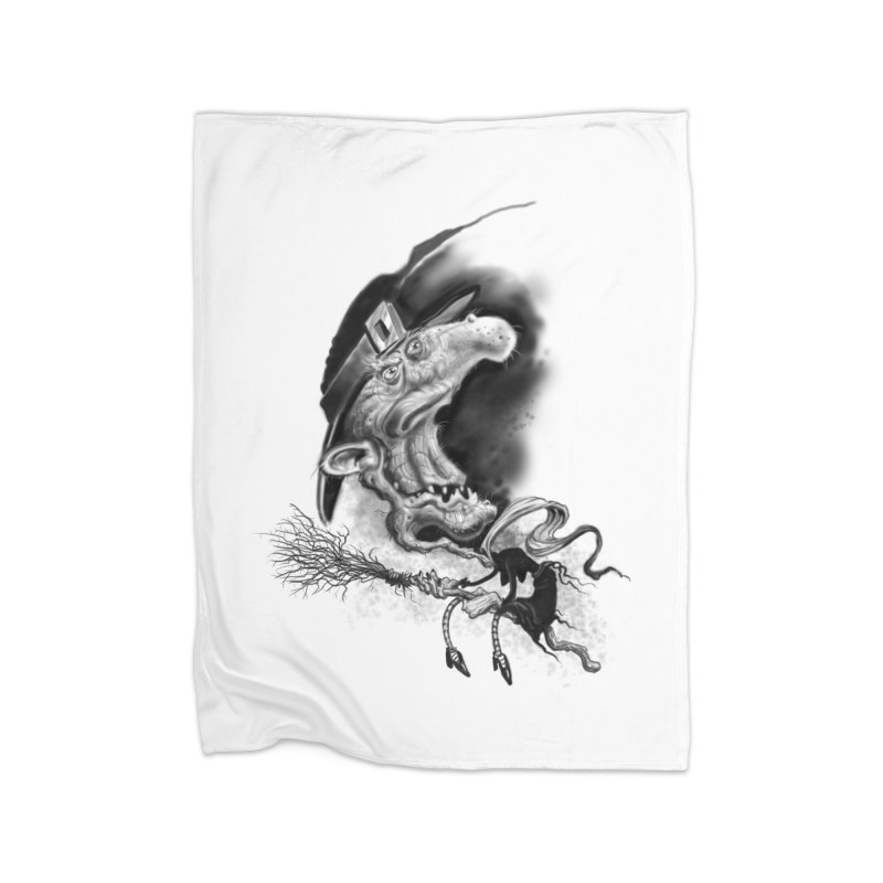 Witch Home Fleece Blanket Blanket by Toadhouse Editions