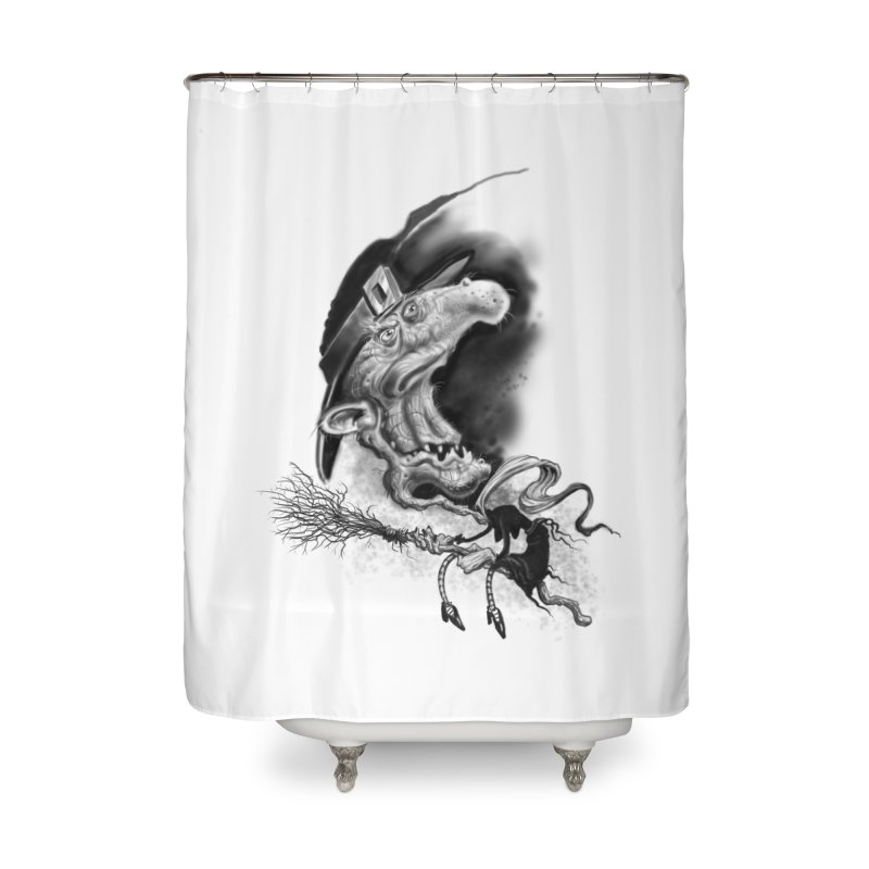 Witch Home Shower Curtain by Toadhouse Editions