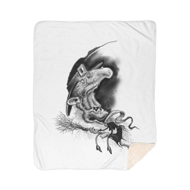 Witch Home Sherpa Blanket Blanket by Toadhouse Editions