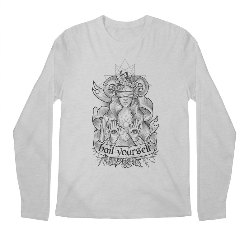 Hail Yourself! Men's Regular Longsleeve T-Shirt by Toadhouse Editions