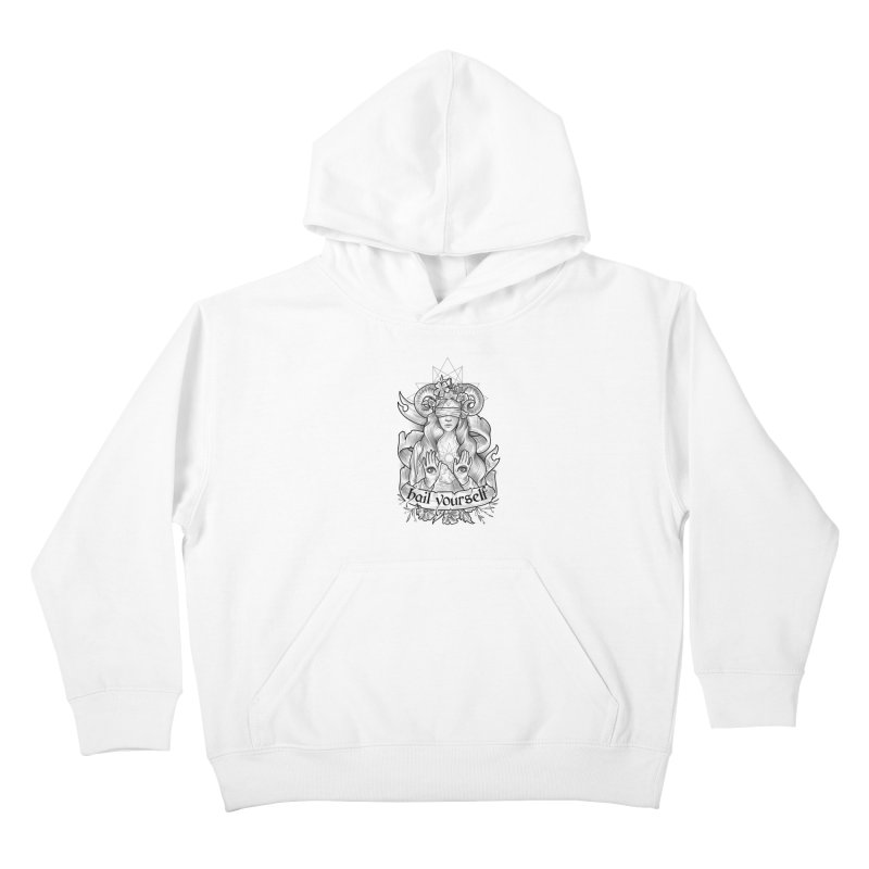 Hail Yourself! Kids Pullover Hoody by Toadhouse Editions