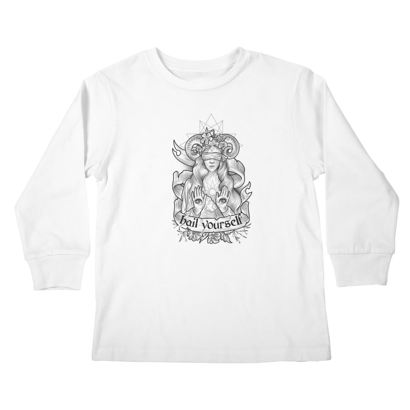 Hail Yourself! Kids Longsleeve T-Shirt by Toadhouse Editions