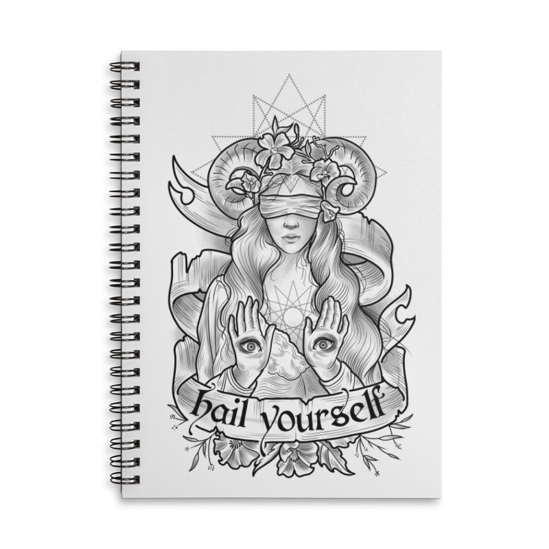 Hail Yourself! Accessories Lined Spiral Notebook by Toadhouse Editions