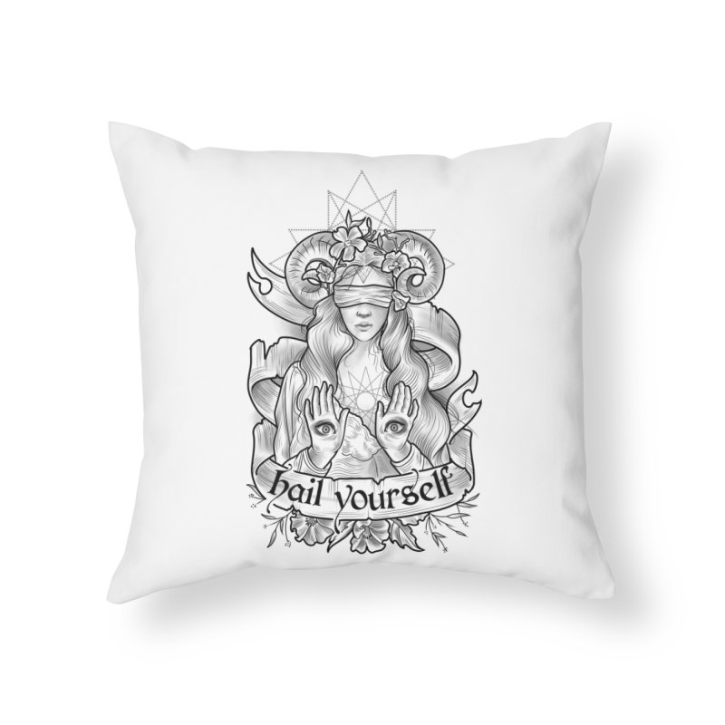 Hail Yourself! Home Throw Pillow by Toadhouse Editions