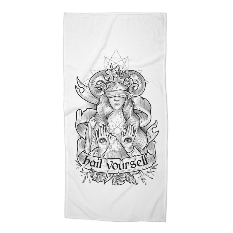 Hail Yourself! Accessories Beach Towel by Toadhouse Editions