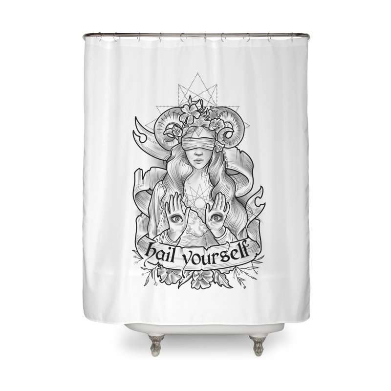 Hail Yourself! Home Shower Curtain by Toadhouse Editions