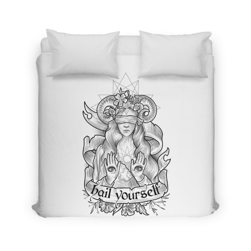 Hail Yourself! Home Duvet by Toadhouse Editions