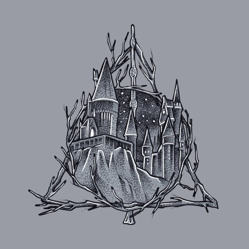 The Deathly Hallows Men's T-Shirt by Toadhouse Editions