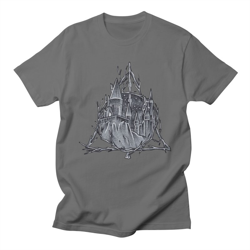 The Deathly Hallows in Men's Regular T-Shirt Asphalt by Toadhouse Editions