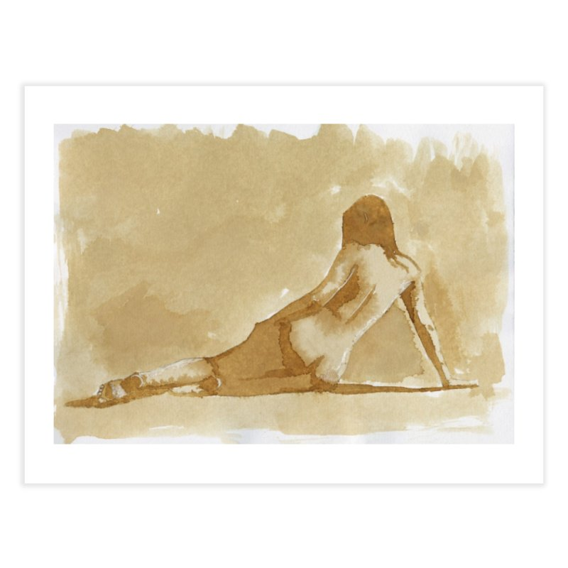 Nude in Coffee Home Fine Art Print by Toby Fox's Print Shop
