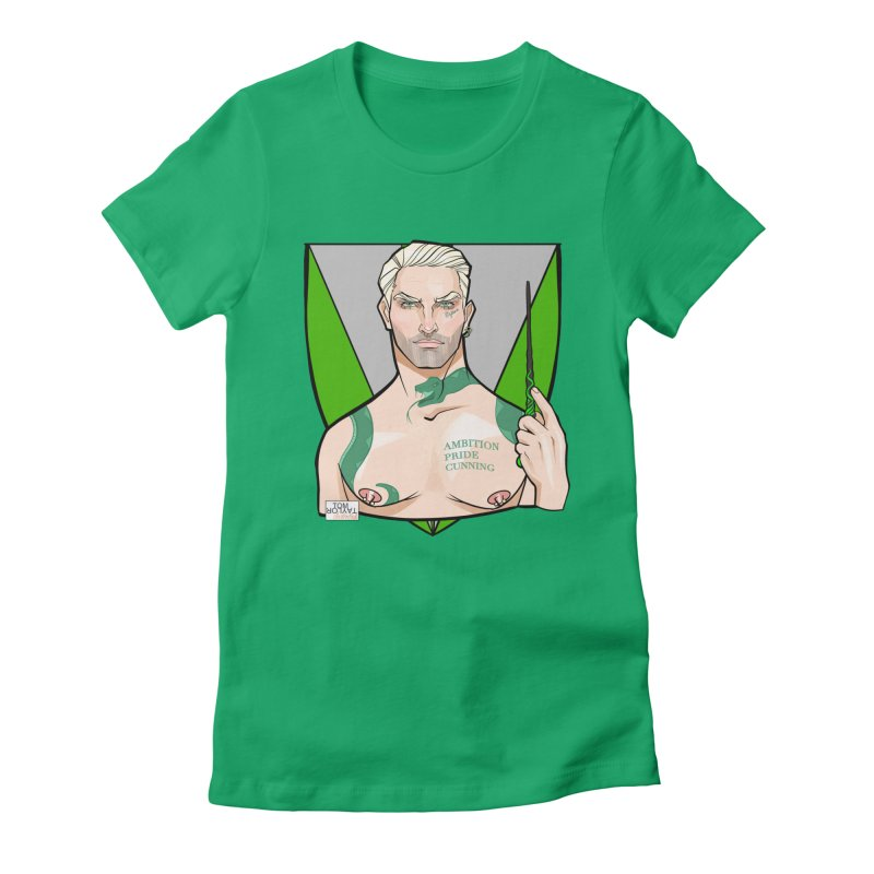 Slither in Women's Fitted T-Shirt by Tom Taylor Illustrated