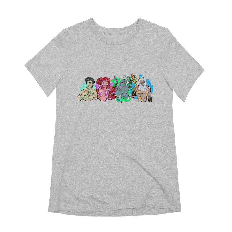 Not so little mermaid Women's Extra Soft T-Shirt by Tom Taylor Illustrated