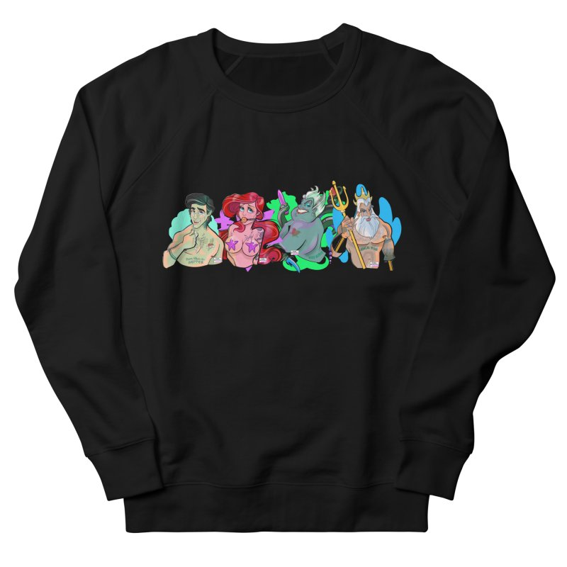 Not so little mermaid Men's French Terry Sweatshirt by Tom Taylor Illustrated