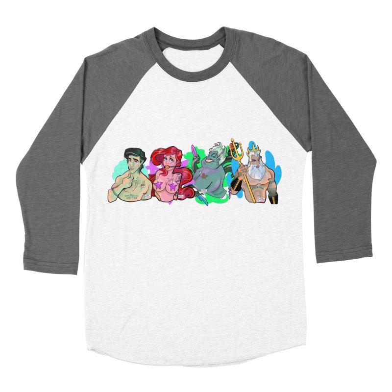 Not so little mermaid Men's Baseball Triblend Longsleeve T-Shirt by Tom Taylor Illustrated