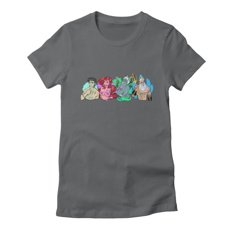 Not so little mermaid Women's Fitted T-Shirt by Tom Taylor Illustrated