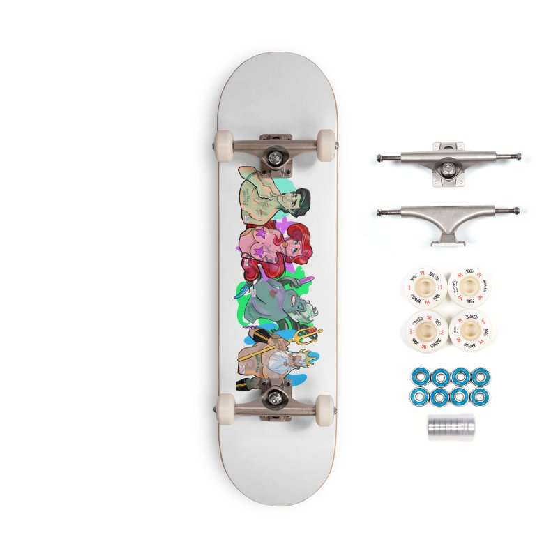 Not so little mermaid Accessories Complete - Premium Skateboard by Tom Taylor Illustrated