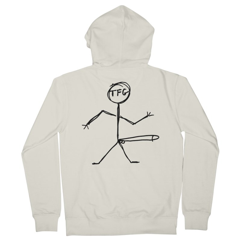 TFG the band Men's French Terry Zip-Up Hoody by TotallyFuckingGay's Artist Shop