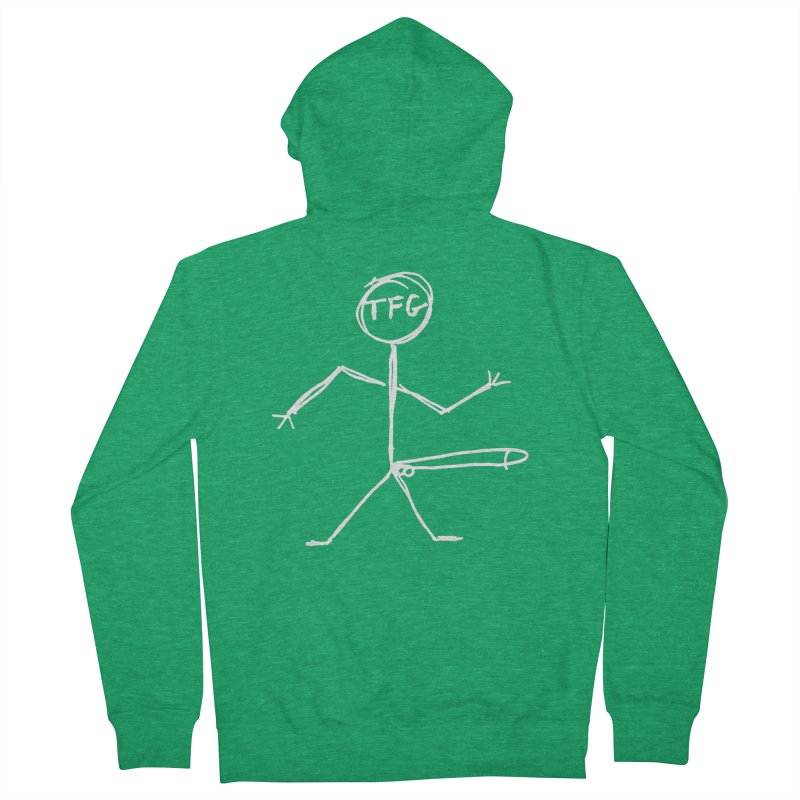 TFG white Men's French Terry Zip-Up Hoody by TotallyFuckingGay's Artist Shop