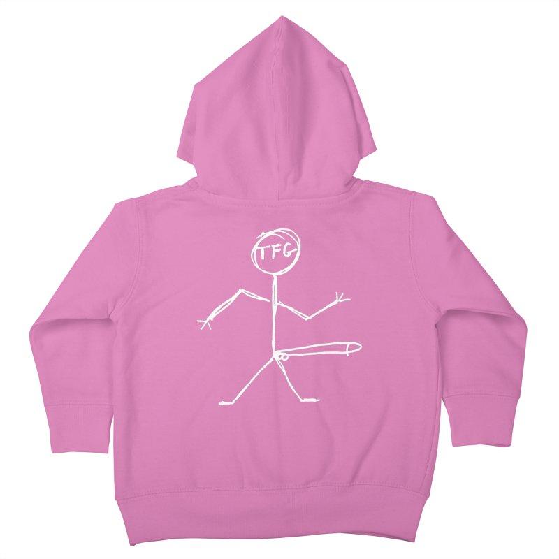 TFG white Kids Toddler Zip-Up Hoody by TotallyFuckingGay's Artist Shop