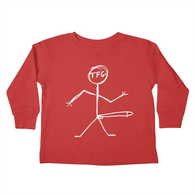 TFG white Kids Toddler Longsleeve T-Shirt by TotallyFuckingGay's Artist Shop