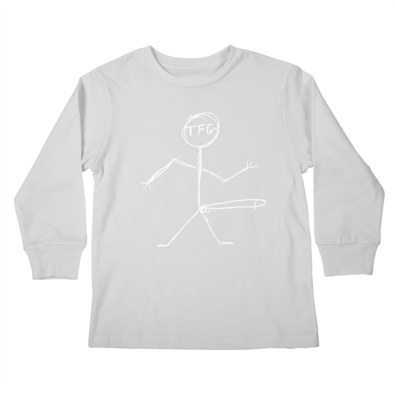 TFG white Kids Longsleeve T-Shirt by TotallyFuckingGay's Artist Shop