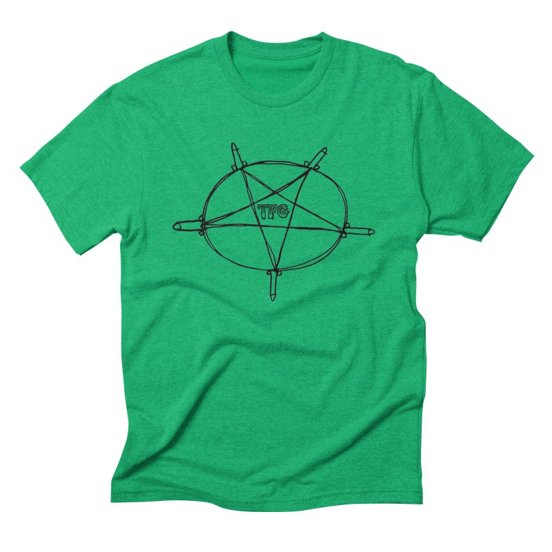 TFG Penis Pentagram Men's Triblend T-Shirt by TotallyFuckingGay's Artist Shop