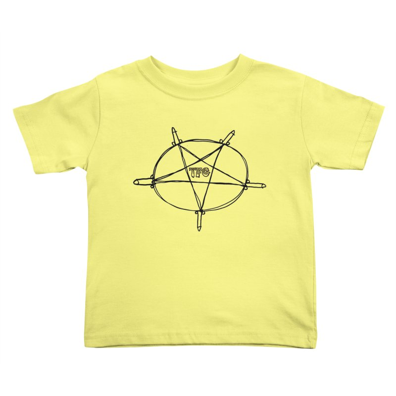 TFG Penis Pentagram Kids Toddler T-Shirt by TotallyFuckingGay's Artist Shop